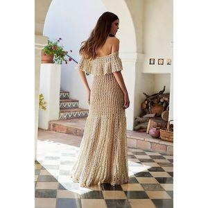 Free People Dresses - FREE PEOPLE Designer Maxi Woven Dress Lt. Edition